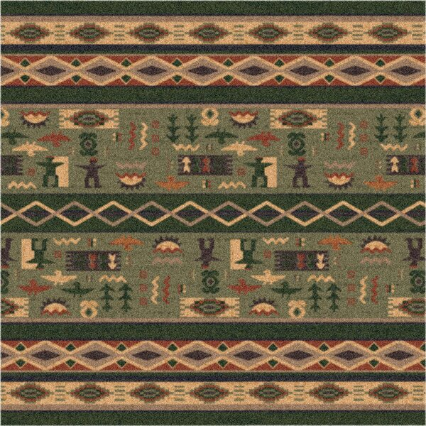 Pastiche Wide Ruins Autumn Forest Green Area Rug by Milliken