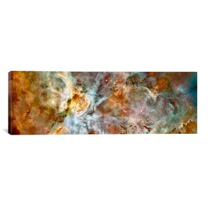 'Carina Nebula Hubble Space Telescope' Painting Print on Canvas by Zipcode Design