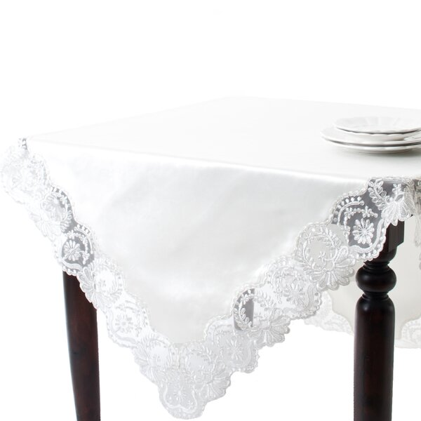 Victoria Design Embroidered Tablecloth by Saro