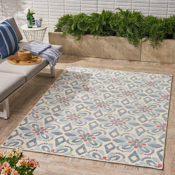 Heintzelman Floral Blue Indoor/Outdoor Area Rug by Alcott Hill
