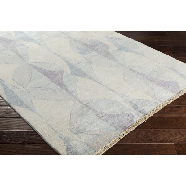 Larache Hand-Knotted Neutral/Gray Area Rug by Bungalow Rose