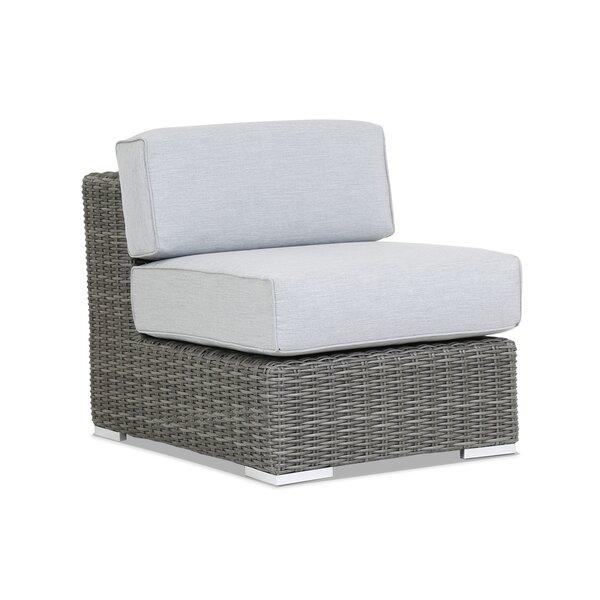 Emerald II Armless Patio Chair with Sunbrella Cushion by Sunset West