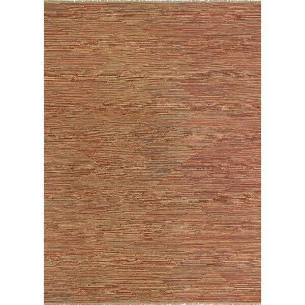 One-of-a-Kind Applewhite Hand-Woven Wool Red Area Rug by Isabelline