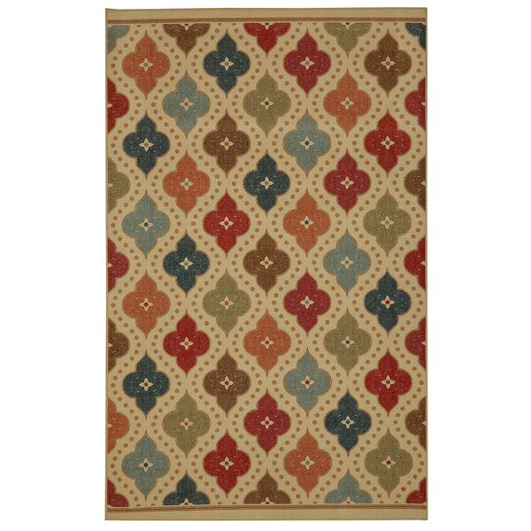 Taren Jewel Medallion Kaleidoscope Area Rug by World Menagerie