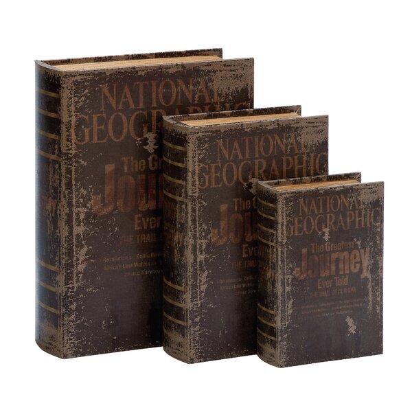 3 Piece Wood Book Box Set by Trent Austin Design