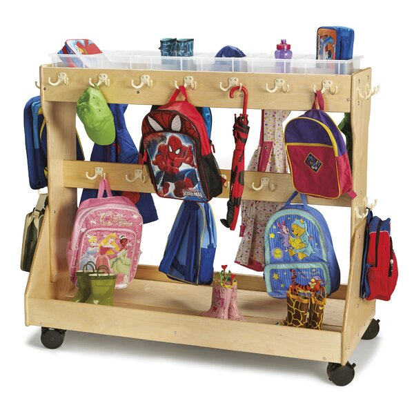 Backpack Double Sided 2 Compartments Cubby with Tr
