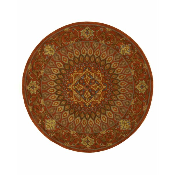 Gombad Hand Woven Wool Gold/Green Area Rug by Eastern Rugs