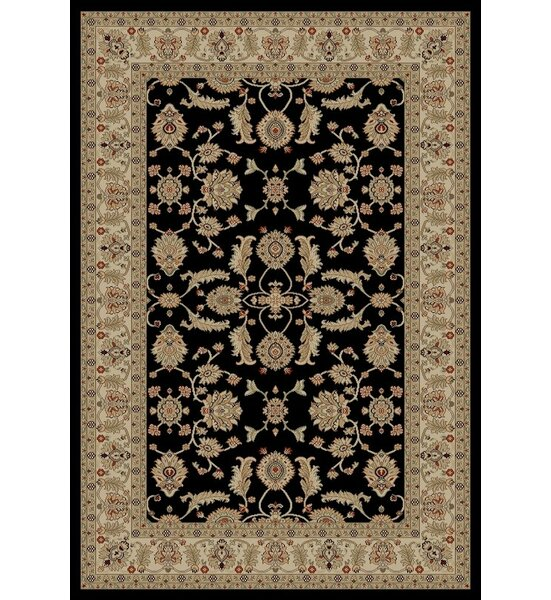 Jewel Antep Black Area Rug by Threadbind