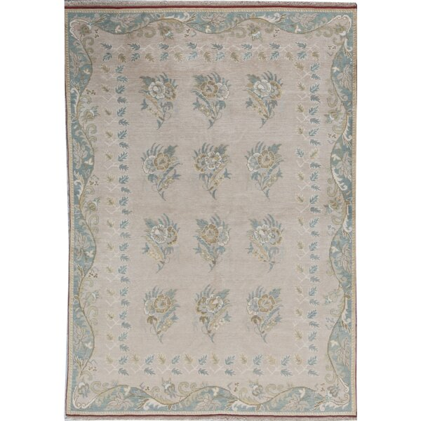 Oriental Hand-Knotted Wool Beige Area Rug