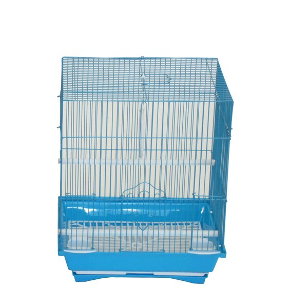 Opal Flat Top Medium Parakeet Cage with Food Access Door by Tucker Murphy Pet