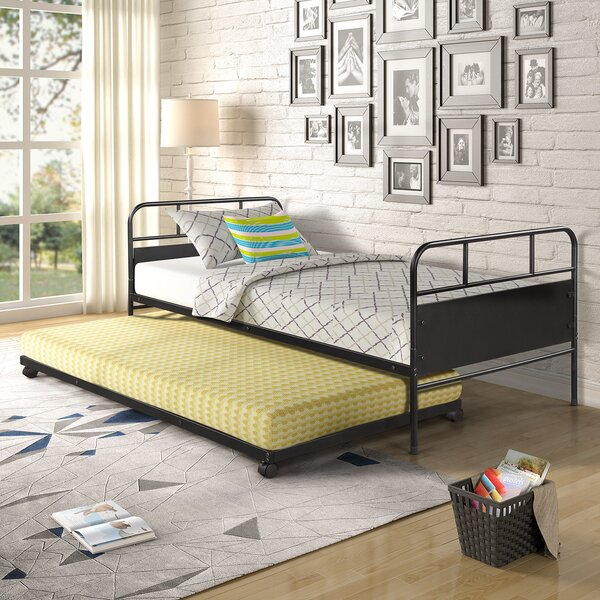 Heater Metal Platform Twin Daybed With Trundle By Winston Porter
