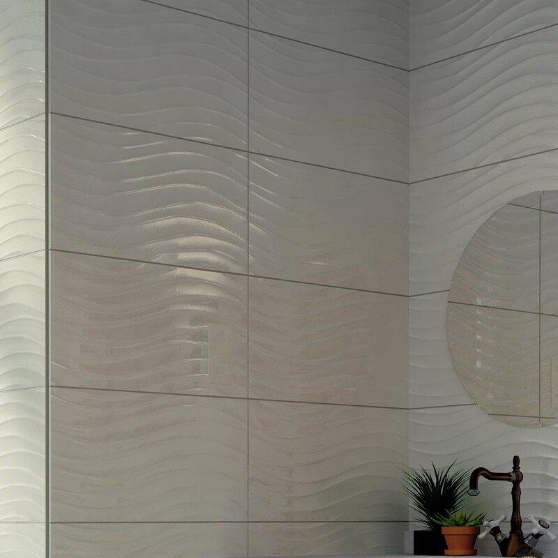 Silhouette 12 38 Quot X 24 88 Quot Ceramic Field Tile In White