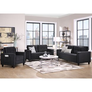 Sectional Sofa Set Morden Style Couch Furniture Upholstered Sectional Armchair, Loveseat And Three Seat For Home Or Office (1+2+3-Seat) by Latitude Run®