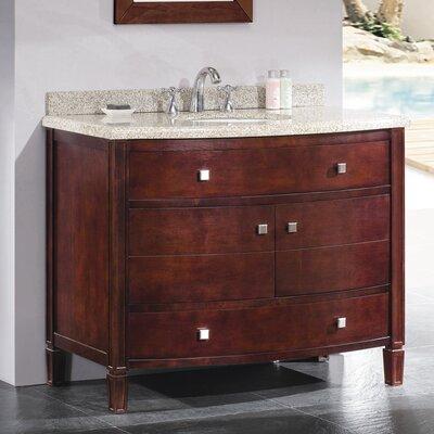"Bathroom Cabinets Georgia ove decors lyon 42"" single bathroom vanity set & reviews | wayfair"