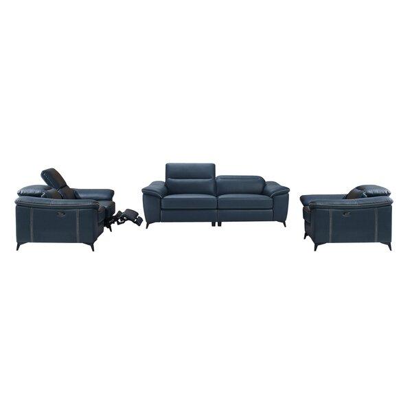 Morelock Modern 3 Piece Reclining Living Room Set by Latitude Run
