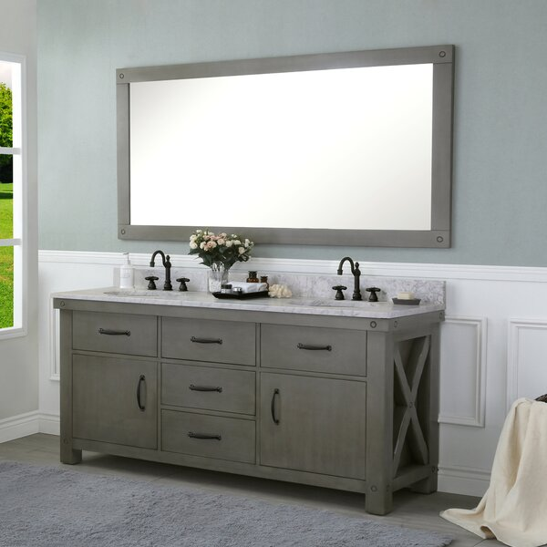 Cleora 72 Double Bathroom Vanity Set with Mirror by Williston Forge