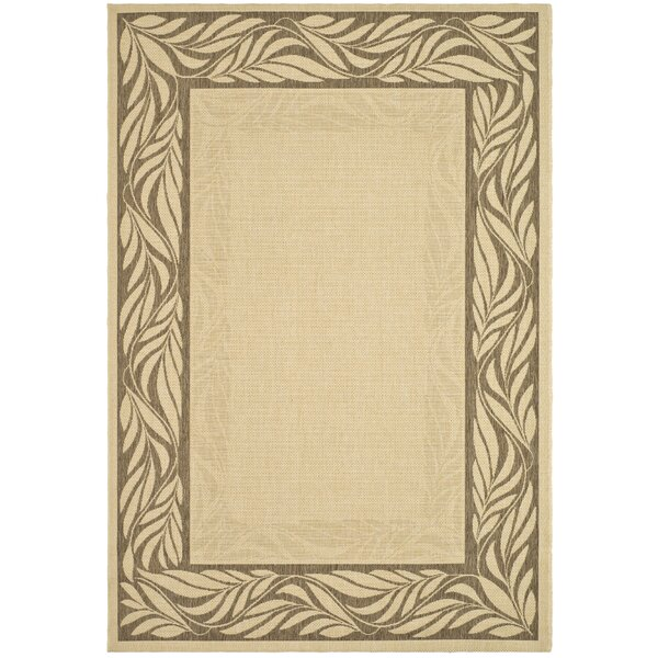 Amaryllis Brown / Tan Outdoor Area Rug by Bay Isle Home