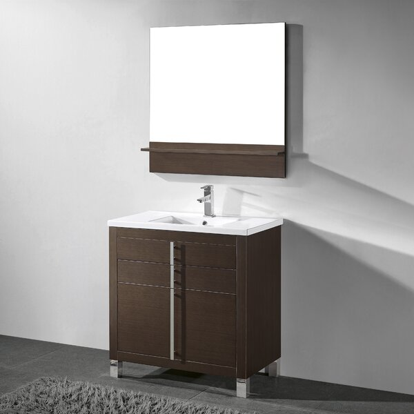 Turin 36 Single Bathroom Vanity Set with Mirror by Adornus