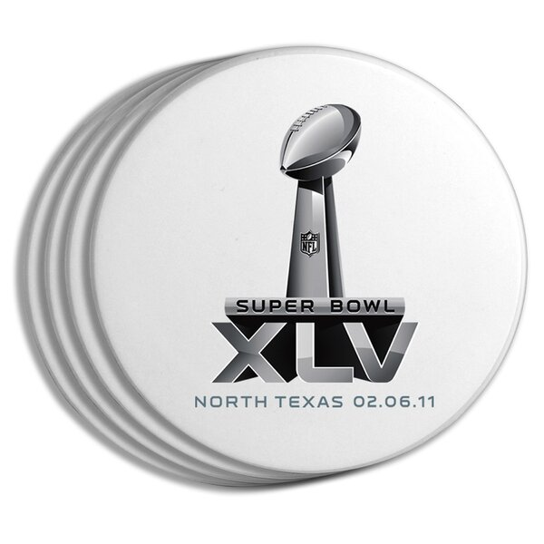2011 Super Bowl Logo Coaster (Set of 4) by The Memory Company