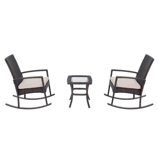 Kilgo 3 Piece Seating Group Set with Cushions by Latitude Run
