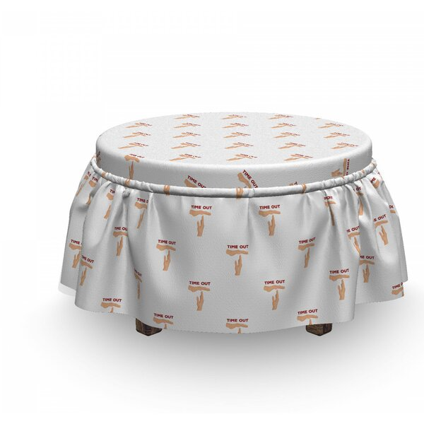 Basketball Concept Gesture Ottoman Slipcover (Set Of 2) By East Urban Home