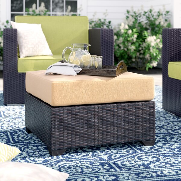 Tegan Ottoman With Cushion By Sol 72 Outdoor by Sol 72 Outdoor Wonderful