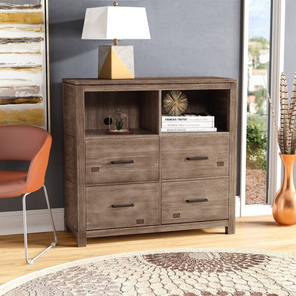 Seleukos 4 Drawer Media Chest by Mercury Row
