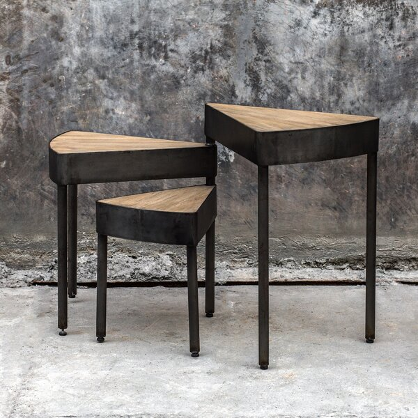 Gia Swivel 3 Piece Nesting Tables by 17 Stories