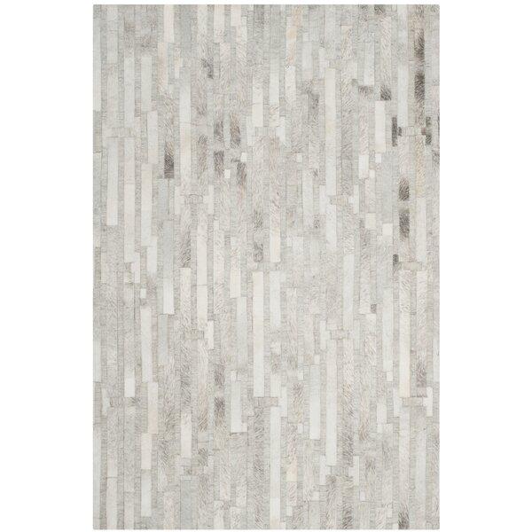 Sevastopol Hand-Woven Ivory/Gray Area Rug by Brayden Studio