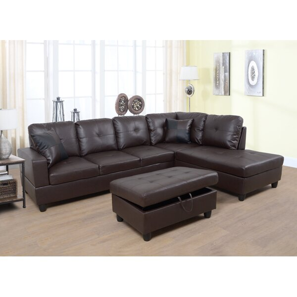 Plunk Sectional with Ottoman by Winston Porter