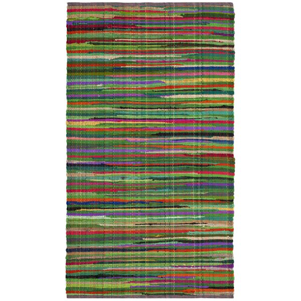 Hawley Hand-Woven Green Area Rug by Mercer41