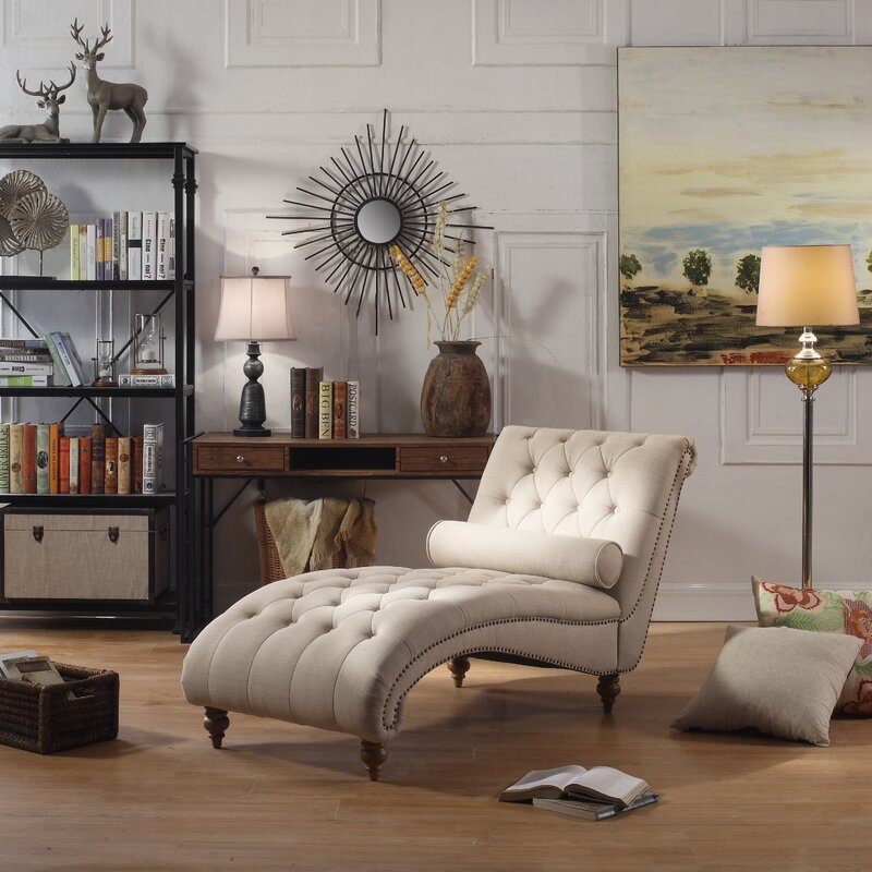 Charming Yarmouth Chaise Tufted Lounge Chair