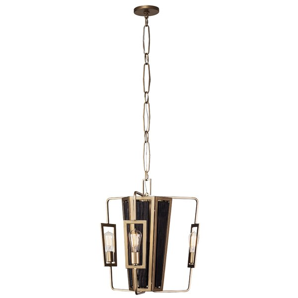Tejeda 3 - Light Candle Style Square / Rectangle Chandelier by Mercer41 Mercer41