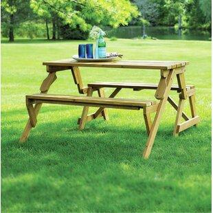 Dreiling Convertible Wood Picnic Table U0026 Garden Bench