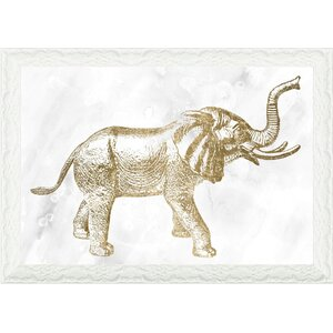 'Elephant' Framed Graphic Art Print by Oliver Gal
