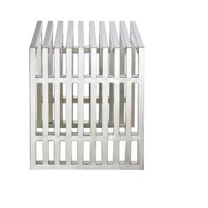 Papadopoulos Strips Metal Bench by Orren Ellis