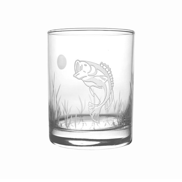 Lake Fish 14 oz. Double Old Fashioned (Set of 4) by Rolf Glass