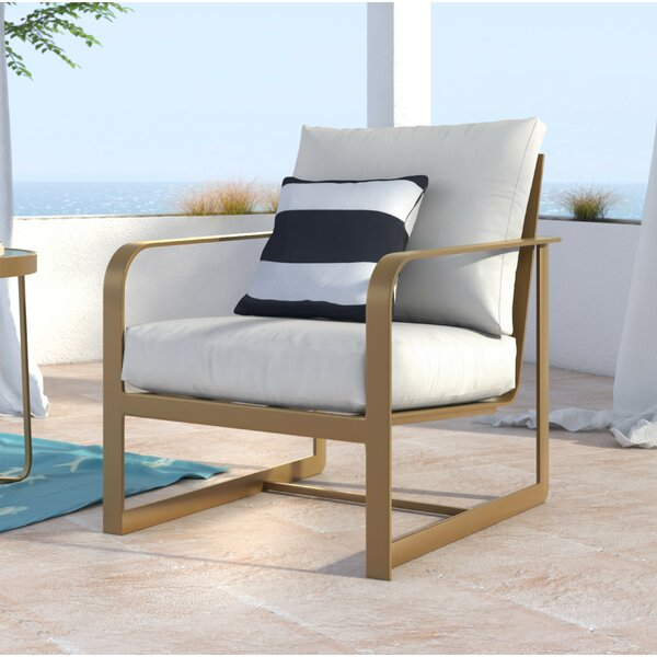 Mirabelle Arm Patio Chair with Cushion by Elle Decor