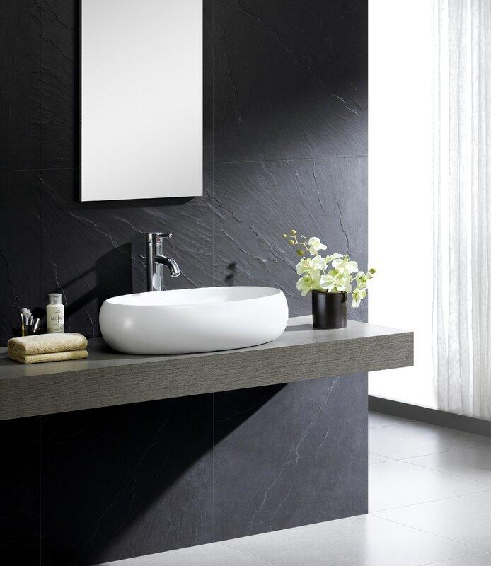 Awesome Modern Ceramic Oval Vessel Bathroom Sink
