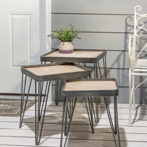 Mapleview 3 Piece Nesting Tables By 17 Stories