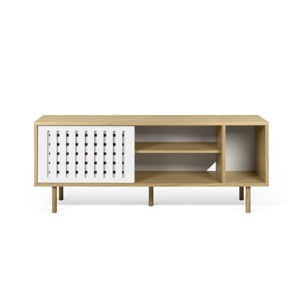 Garry Stripes Wood Sideboard by Corrigan Studio