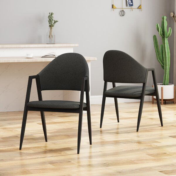 Best #1 Chamblee Upholstered Dining Chair (Set Of 2) By Wrought Studio Great price