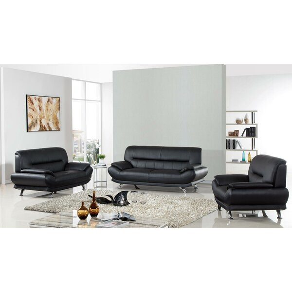 Lacayo 3 Piece Standard Living Room Set by Orren Ellis