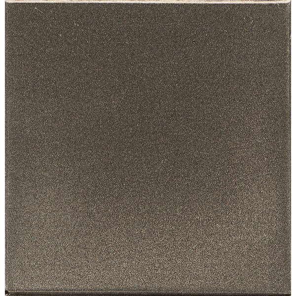 Ambiance Insert Pomenade 2 x 2 Resin Tile in Brushed Nickel by Bedrosians