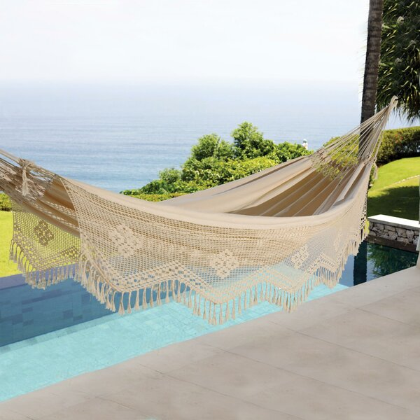 Haydn Cotton Double Tree Hammock by World Menagerie World Menagerie