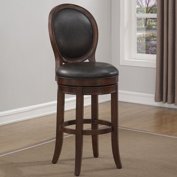Leaf 30 Swivel Bar Stool by Darby Home Co