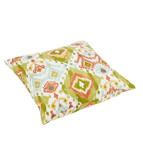 Fealty Ikat Knife Edge Outdoor Floor Pillow by World Menagerie