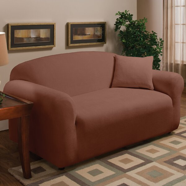 Stretch Microfleece Box Cushion Loveseat Slipcover by Madison Home
