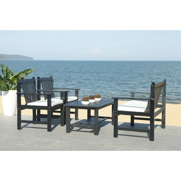Bellair Outdoor 4 Piece Sofa Seating Group with Cushions by Bay Isle Home