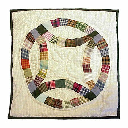 Country Wedding Ring Cotton Throw Pillow by Patch Magic